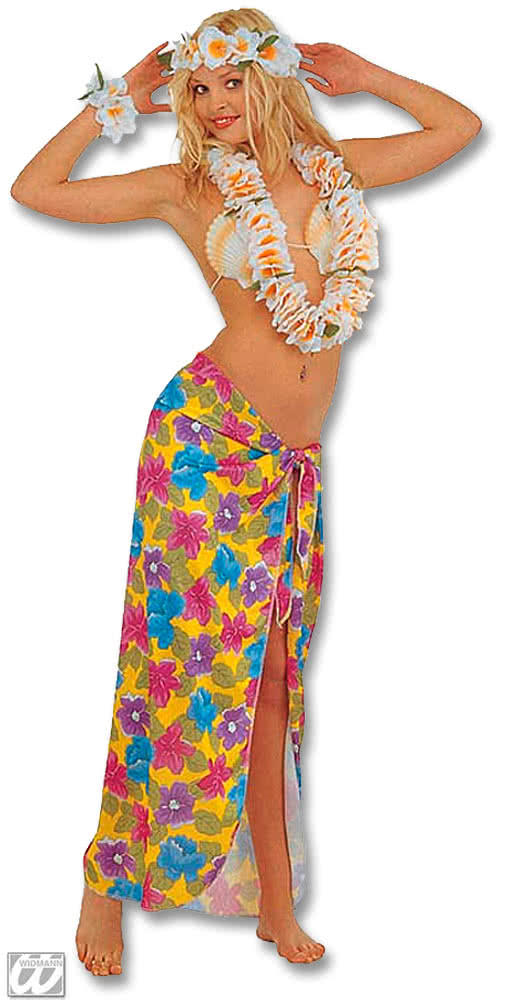 Hawaii Wickelrock Yellow Hawaii Costume Horror Shop Com