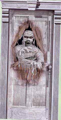 Maniac Mummy Door Film & Maniac Mummy Door Film | Halloween door decorations with mummy ...