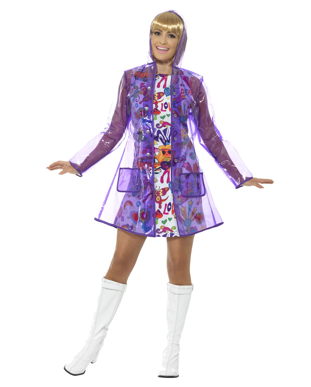 3ccac021560 60s Raincoat As costume accessories