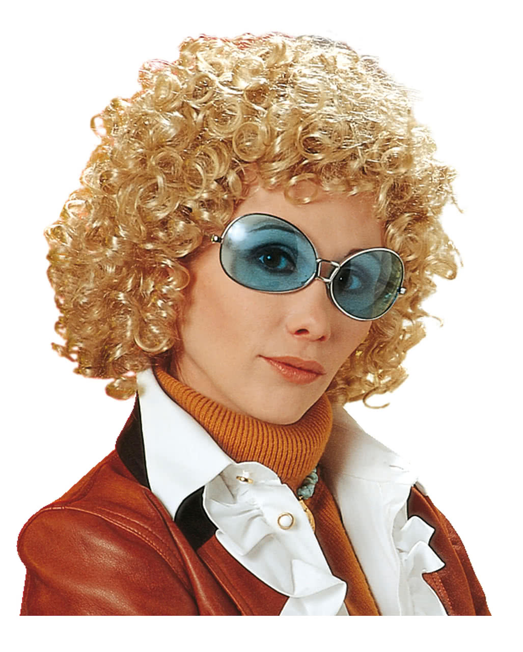 70s Curly Wig Uschi Blond To Buy Horror Shop Com