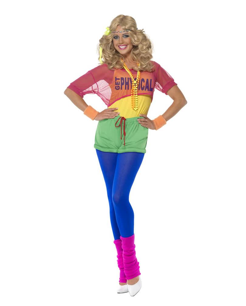 80er Jahre Aerobic Kostüm Achtziger Jahre Partyoutfit Horror