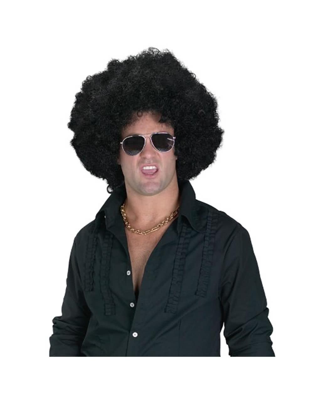 Afro Perucke 15 Cm Preiswerte Hippie Perucke Mit Afro Locken