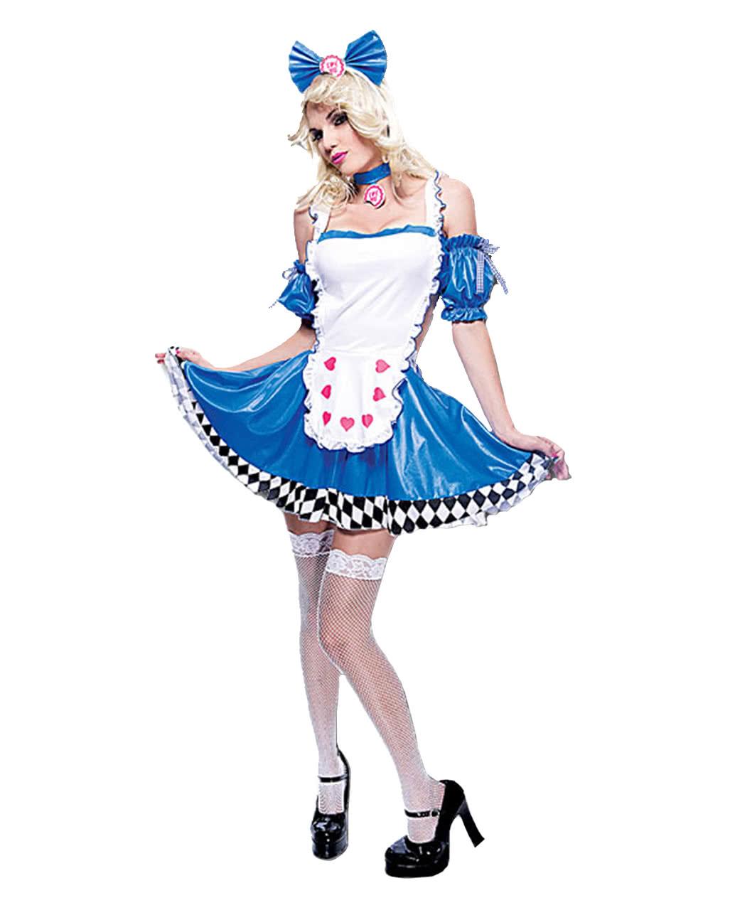 Deluxe Kostum Alice Im Wunderland Karneval Marchen Hutmacher