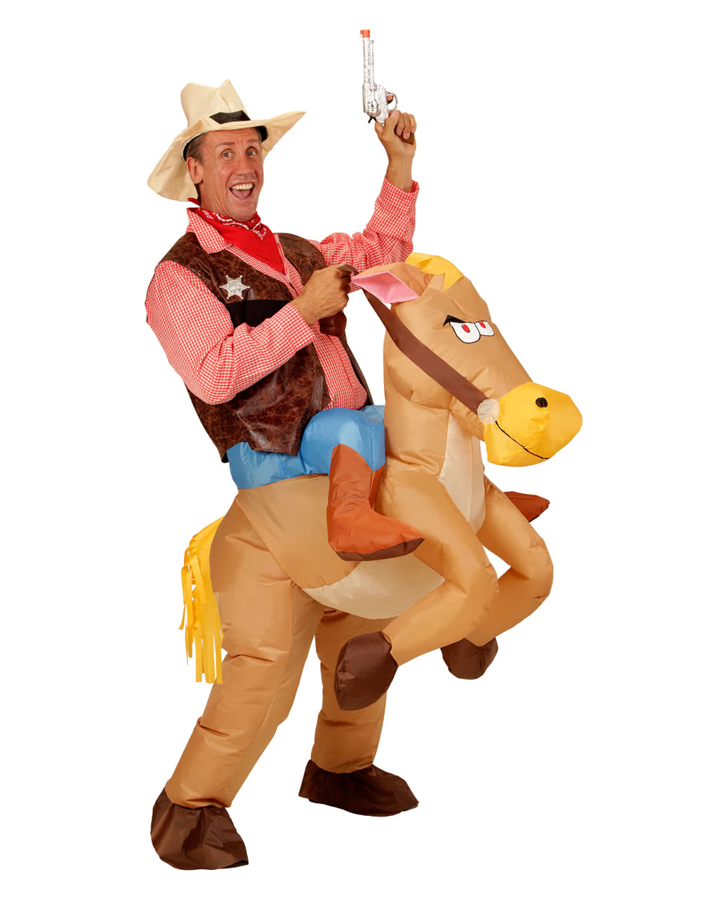 Inflatable Horse Cowboy Costume ...  sc 1 st  Horror-Shop.com & Inflatable Horse Cowboy Costume | for the Wild West Party | horror ...