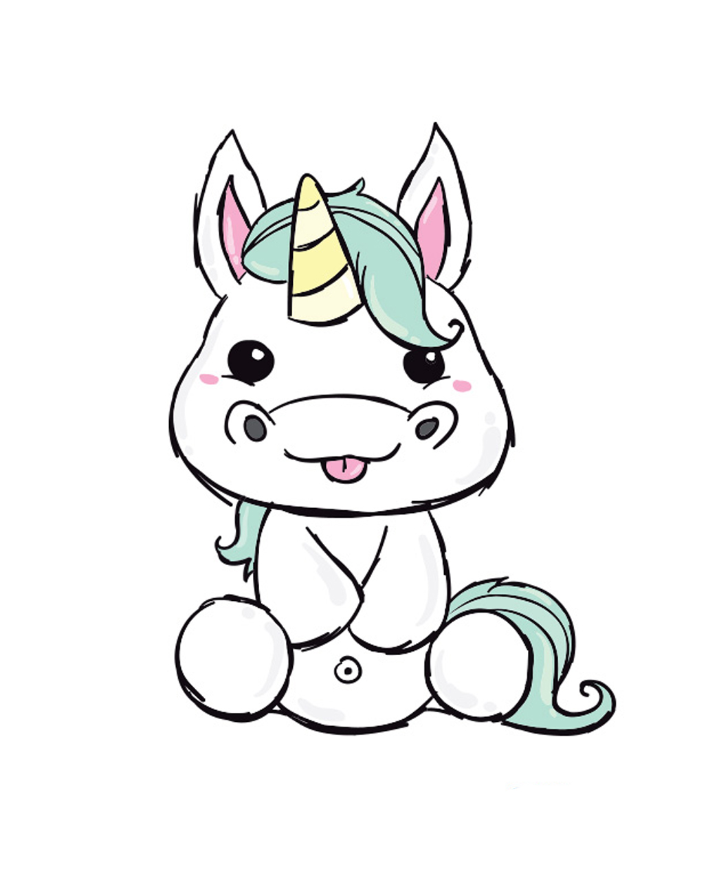Stick On Tattoo Unicorn Temporary Tattoo Horror Shop Com