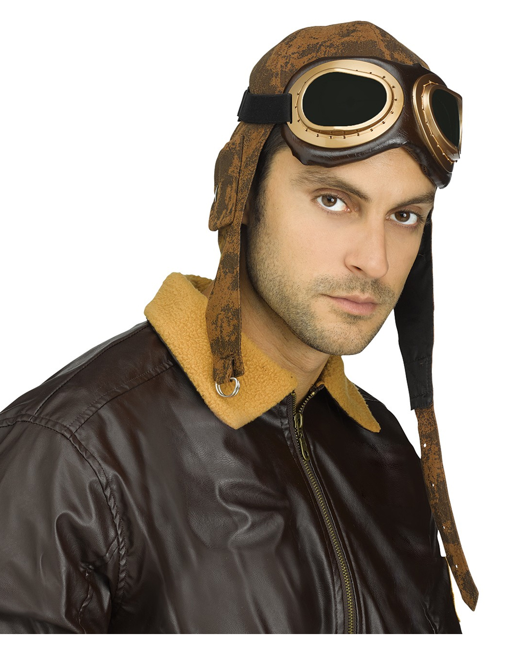 Aviator aviator cap with glasses Costume Accessories  057bf8f1687