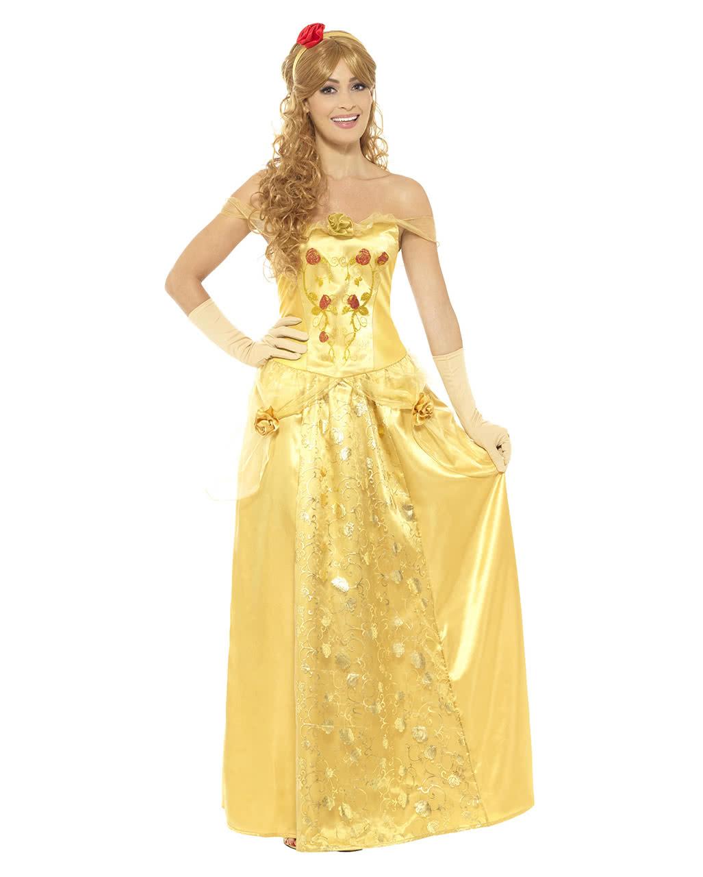 Goldene Prinzessin Kostum Belle Kostum Horror Shop Com