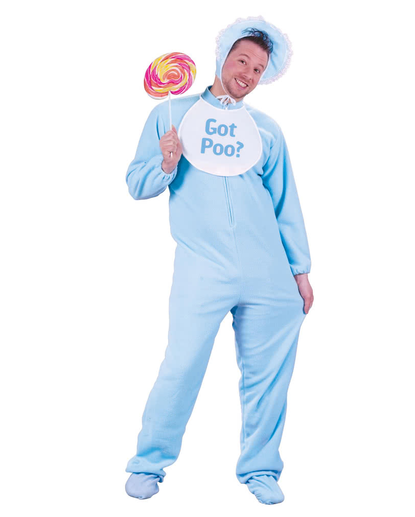 Giant Baby Costume Blue -Babykostüm Adult baby Costumes- | horror-shop.com