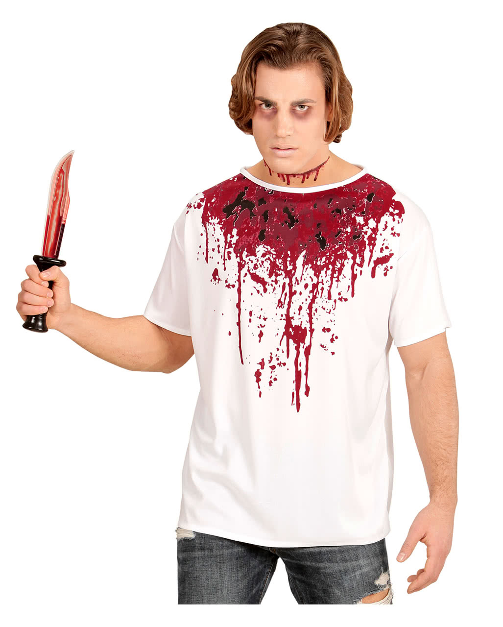 Blood Smeared T-Shirt for Halloween & Horror parties | horror-shop.com