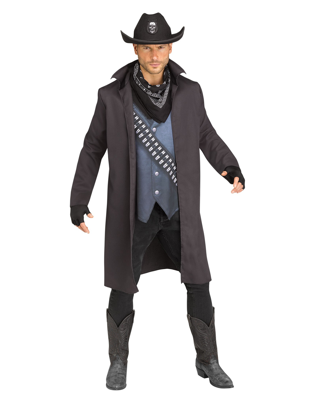 evil cowboy costume halloween disguise | horror-shop