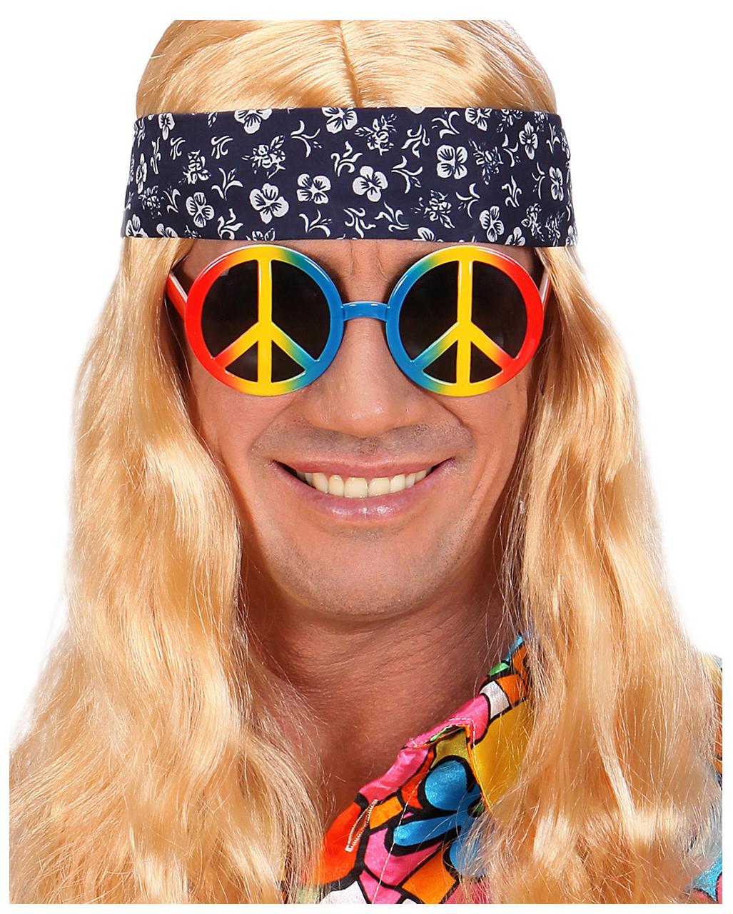 2503881eba Love   Peace Hippie Glasses Costume Accessories