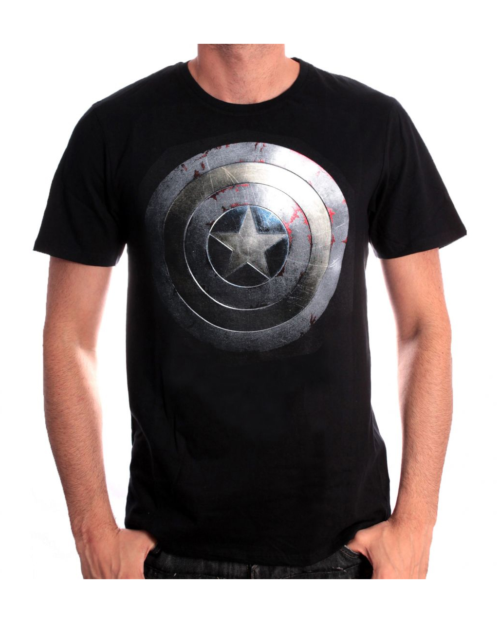 a5305e06 Captain America T-Shirt Silver Shield for fans of Marvel`s First ...