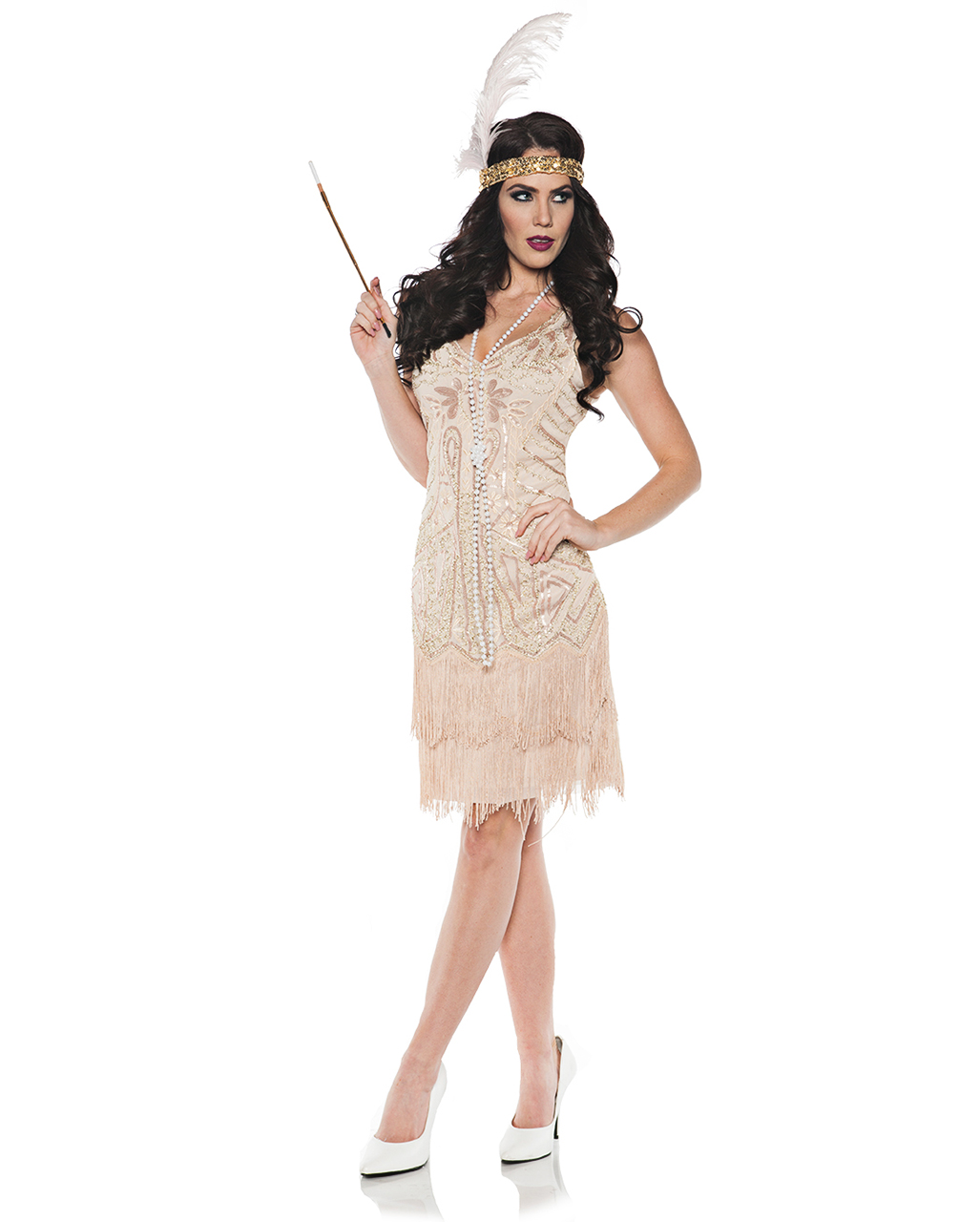 5e5f8e63b65f Charleston Dress With Sequins for a party of 20 years | horror-shop.com