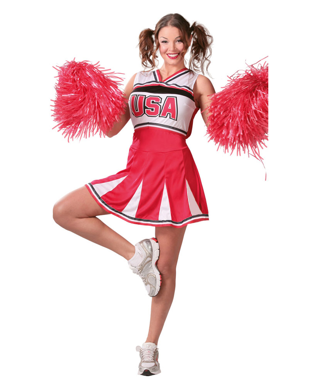 Usa Cheerleader Kostum Fur Sport Fans Horror Shop Com