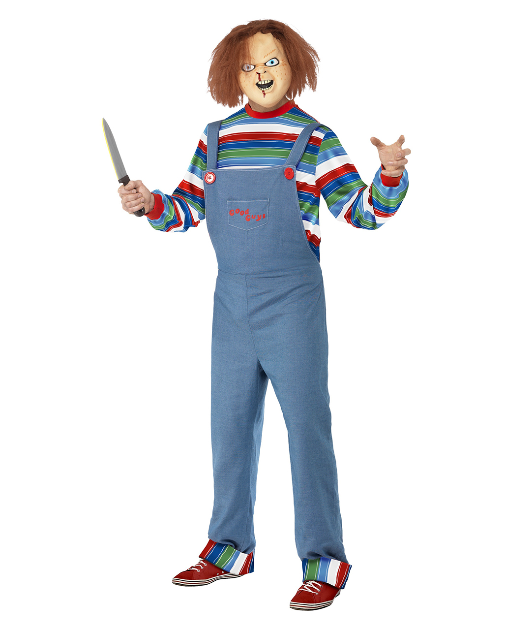 Chucky Horror Costume | Chucky license costume with mask | horror ...
