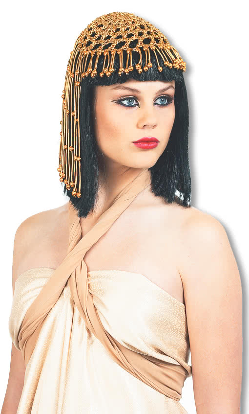 Cleopatra Wig Deluxe with Headdress -Cleopatra-Sphinx-Nefertiti-Egyptian  Queen Wig  78e5b7d4f