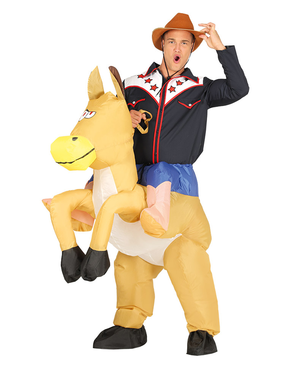 cowboy piggyback costume inflatable to order