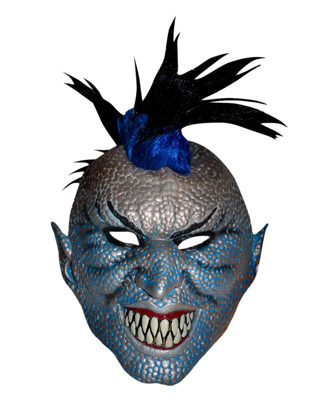 Demon Punk Halloween mask  sc 1 st  Horror-Shop.com & Demon Punk Halloween mask | Horror mask with Mohawk | horror-shop.com