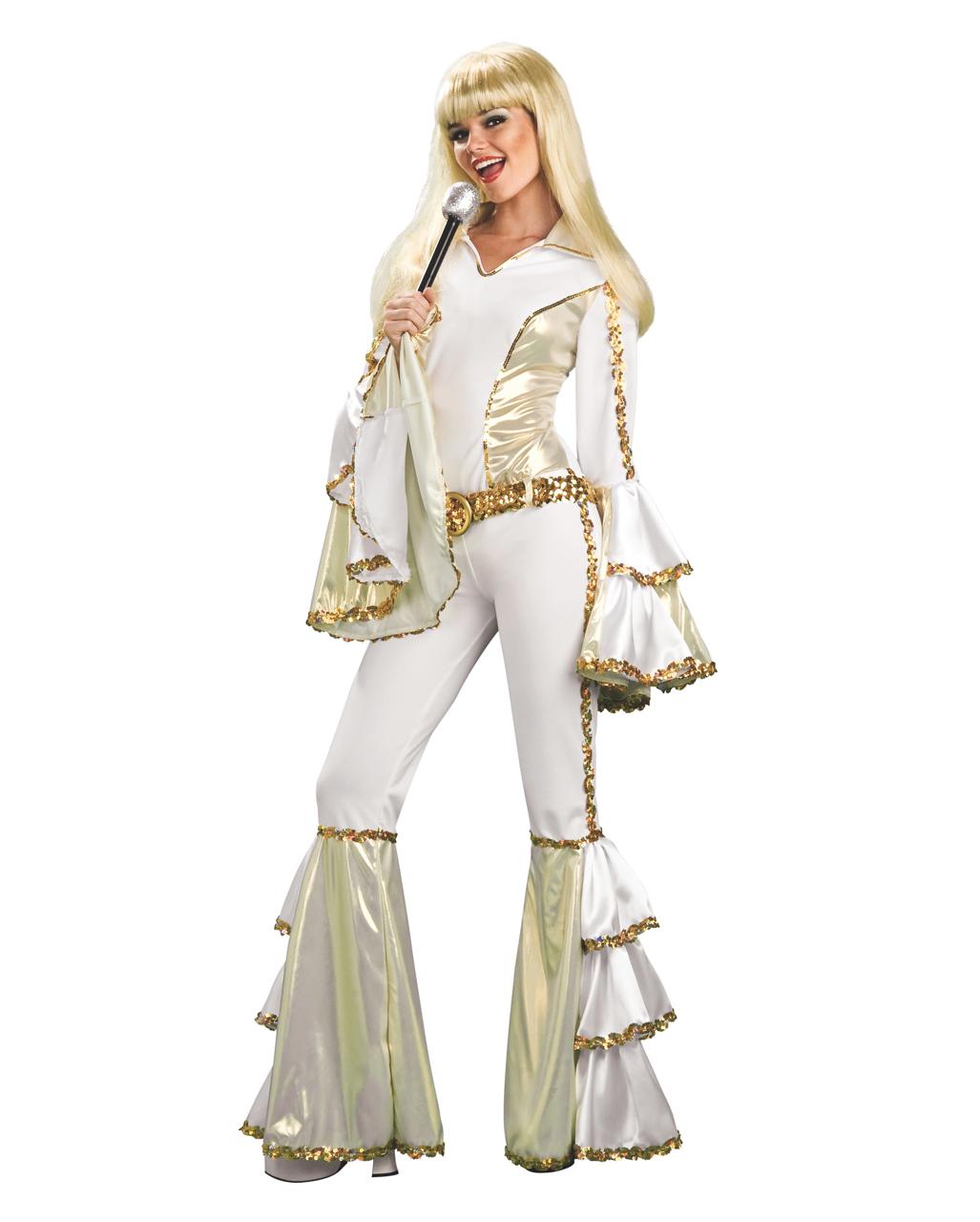 Dancing Queen Kostum 70er Jahre Kostum Disco Queen Glitter Kostum