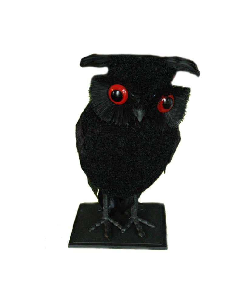 Deco black owl | Black owl figure | horror-shop.com