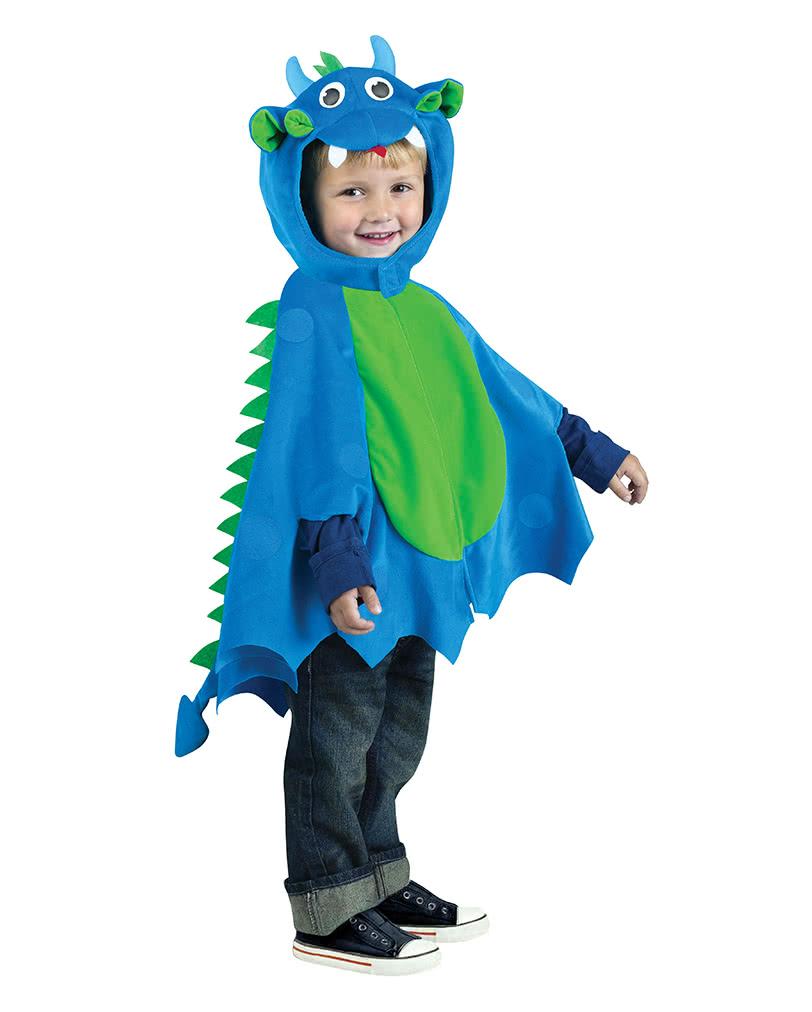 Drachen Umhang Mit Mutze Blau Grun Drachenkostum Fur Kinder