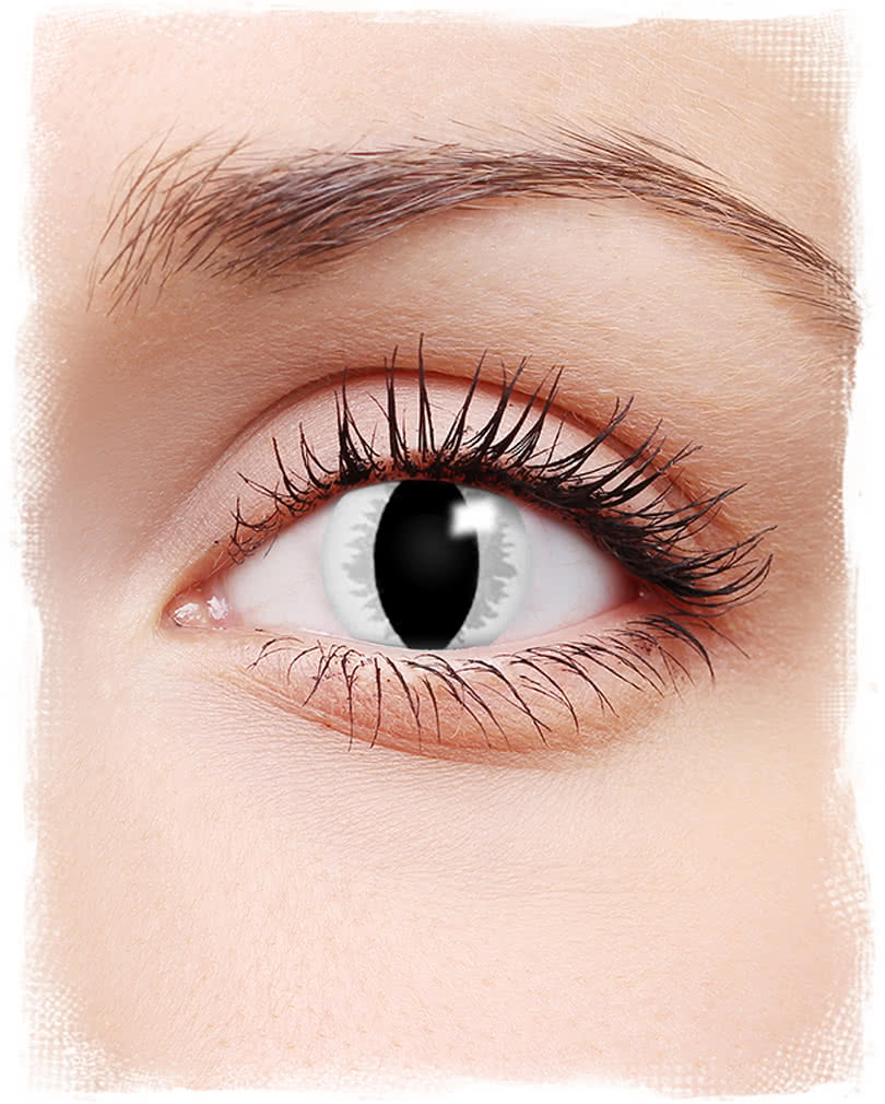 Dragon Eye Contact Lenses Grey Coloured Motif Contact Lenses