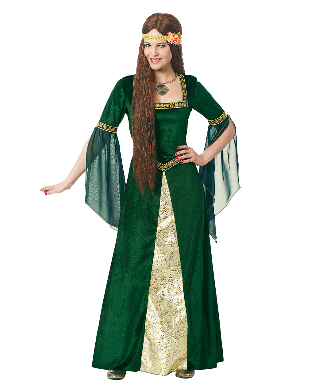 Elegant Woman Costume XL | Green Medieval Dress in oversize | horror ...