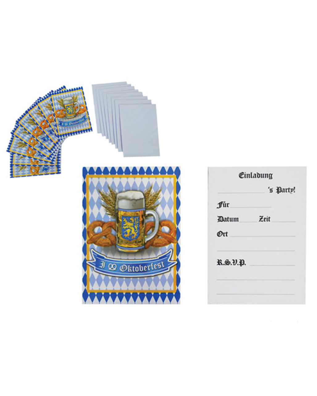 Oktoberfest Party Invitations 8 pc. ◇◇ for Beerfest | horror-shop.com