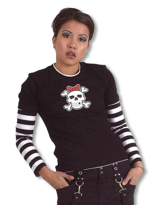 Emo Punk Teenie Pullover Gestreifter Pullover Punk Pullover