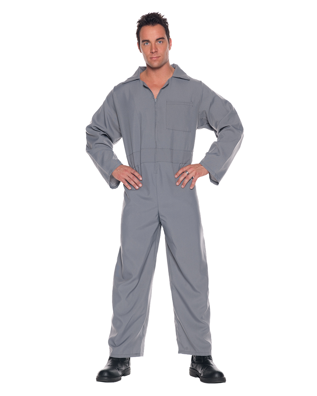 Adult gray jumpsuit   Grey Adult Junmpsuit   horror-shop.com