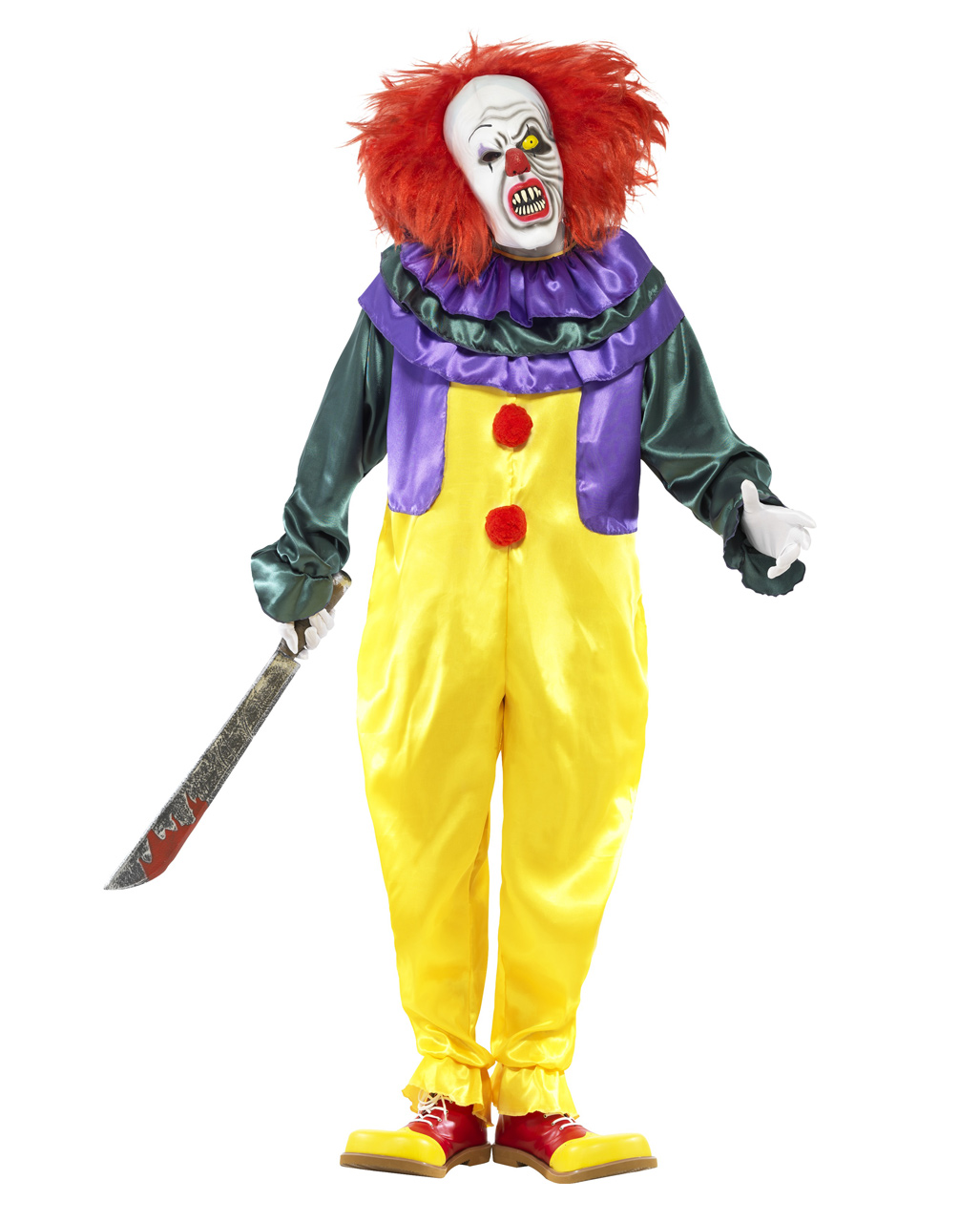 Classic Horror Clown Kostum Mit Maske Fur Halloween Horror Shop Com