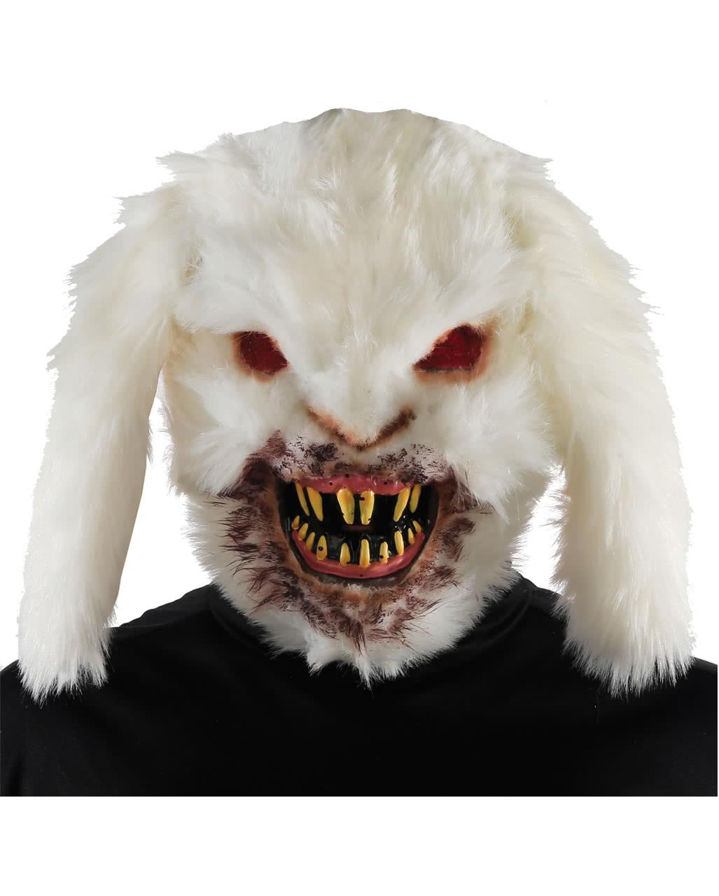 evil bunny hare mask for halloween