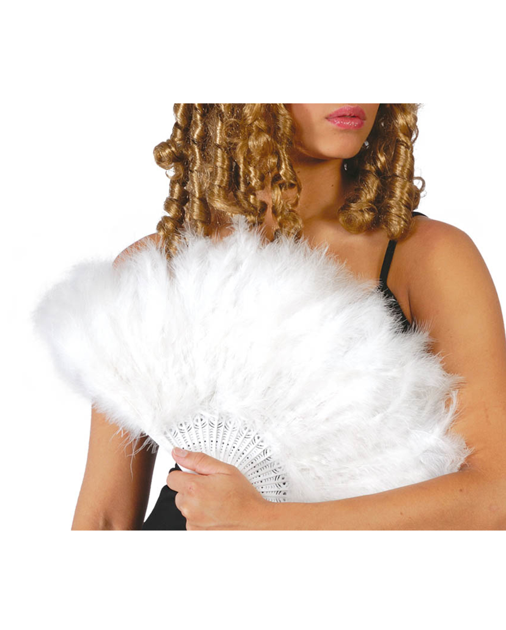 feather fan white