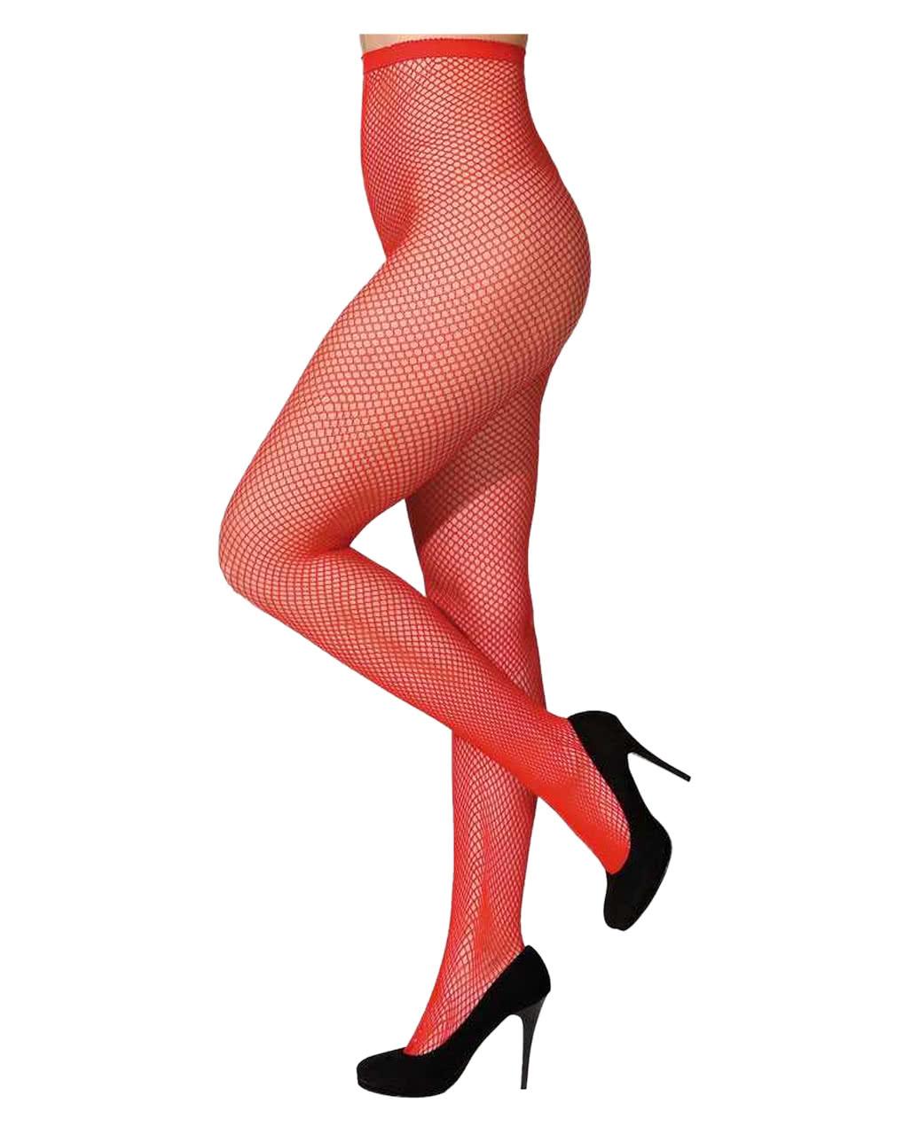 5024a5cfa39 Fine fishnet tights red