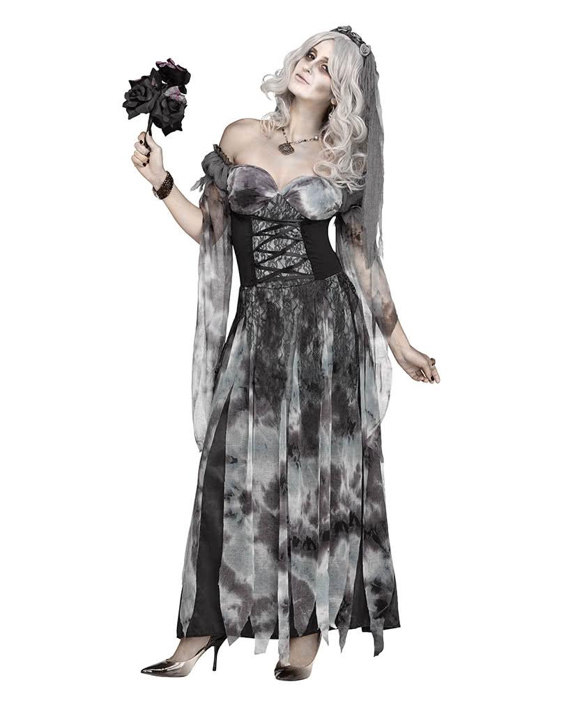 halloween kostume damen friedhofs braut halloweenkostum mit schleier