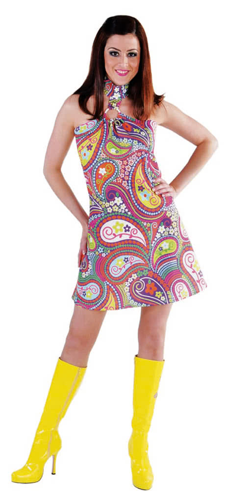 funky colors hippie dress buy hippie costumes online