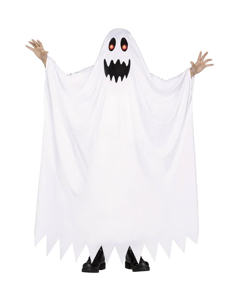 Geist Kinderkostüm Mit Leuchtenden Augen Für Halloween Horror Shopcom