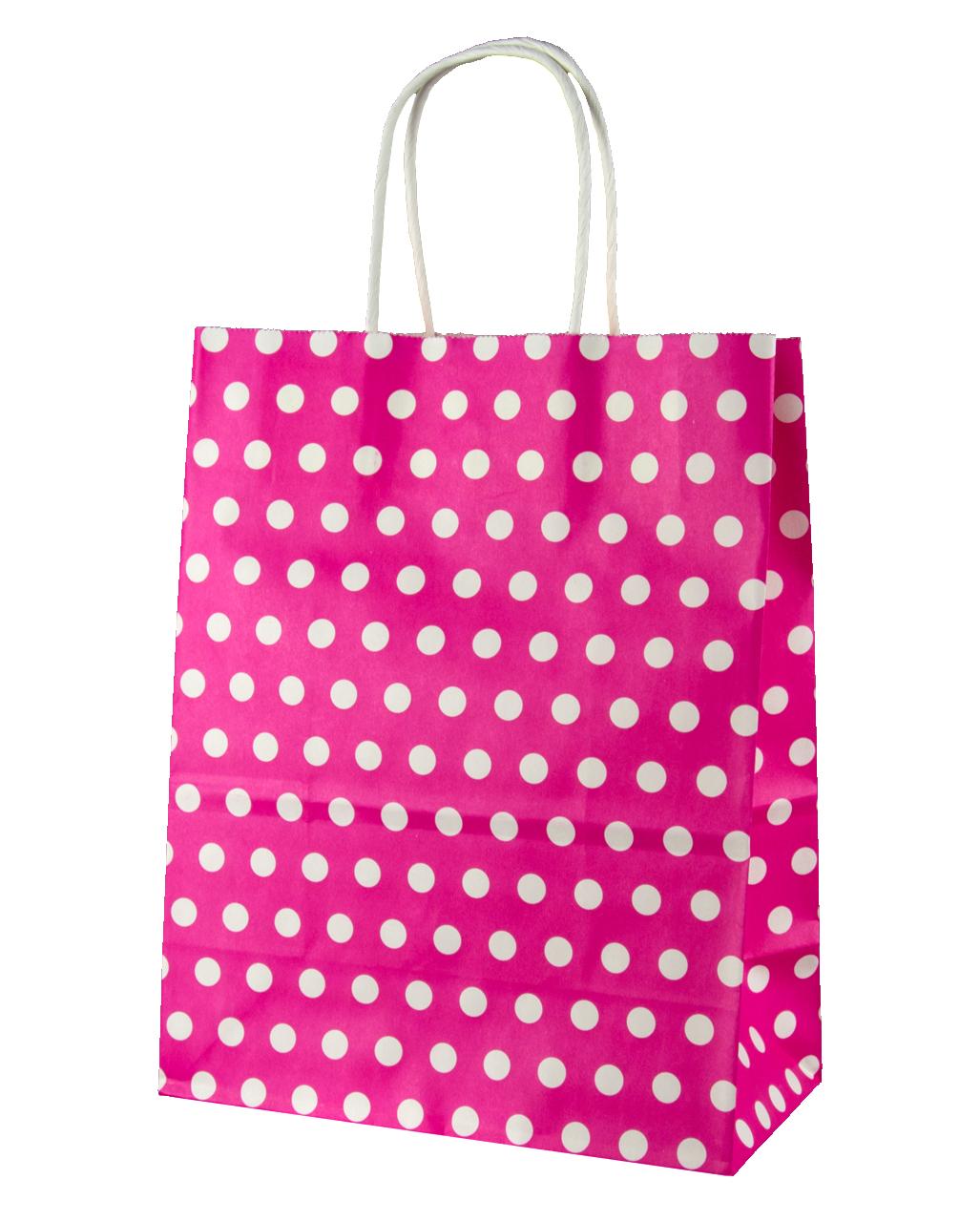 Gift Bag Pink Spotted Big Order