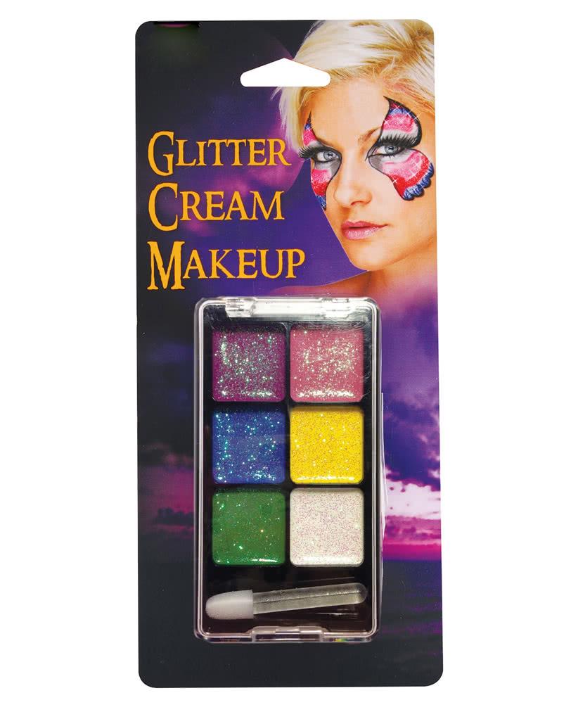 Glitter Make Up Palette Rainbow Regenbogen Glitzer Cream Make Up