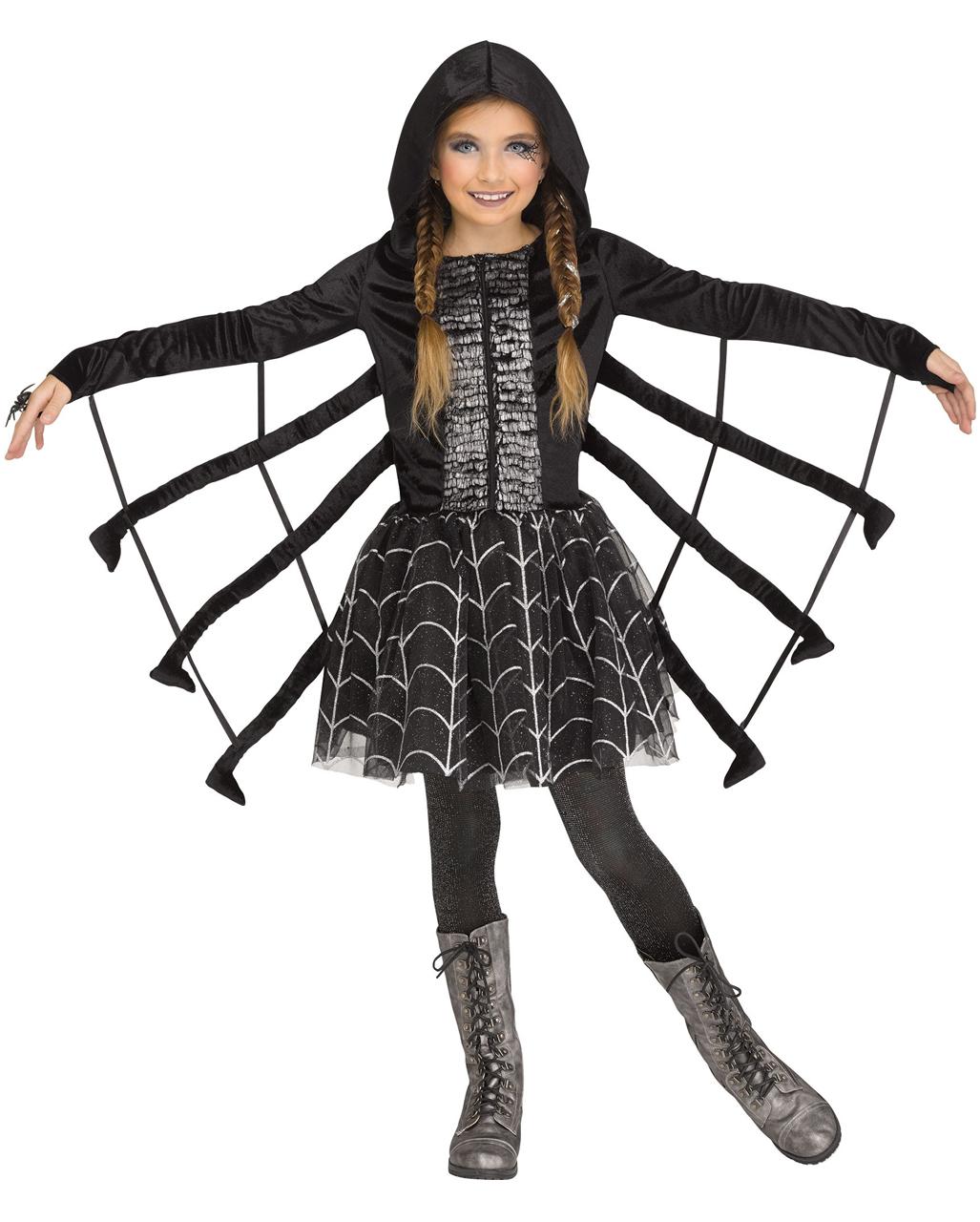 Glitzer Spinne Kinder Kostum Als Halloween Kostum Horror Shop Com