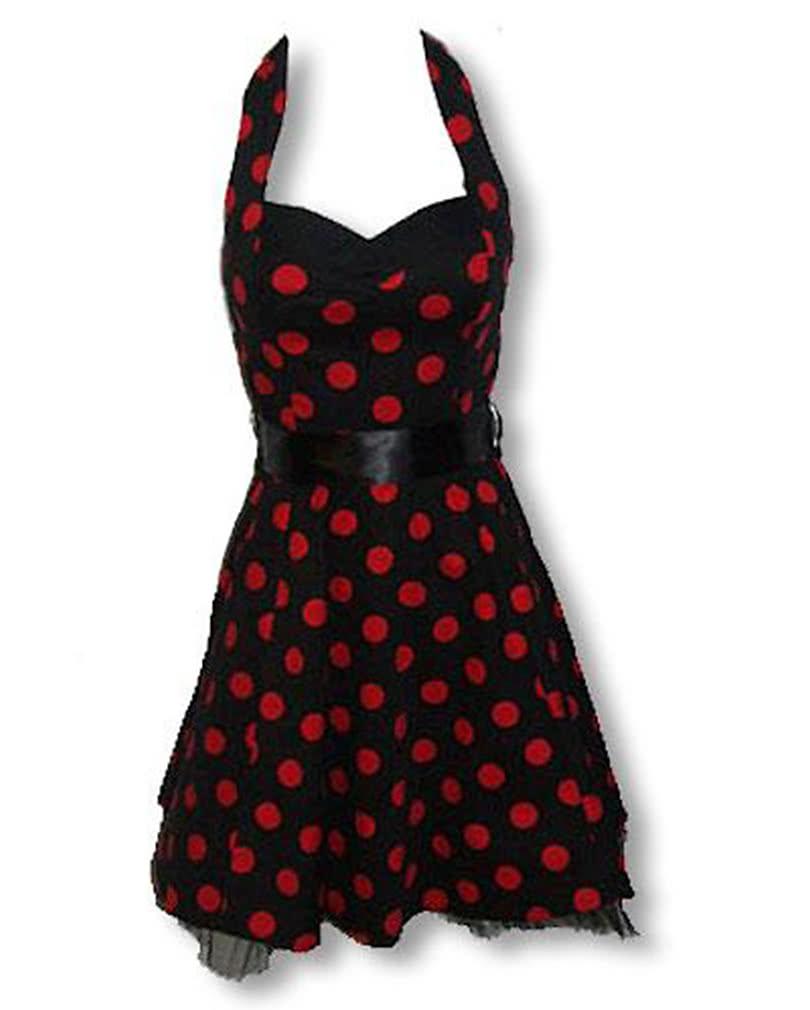 4f3546dbc60 Black Red polka dot dress