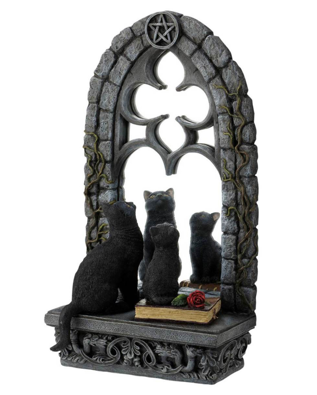 Gothic Spiegel mit Katzen als Halloween Deko | Horror-Shop.com