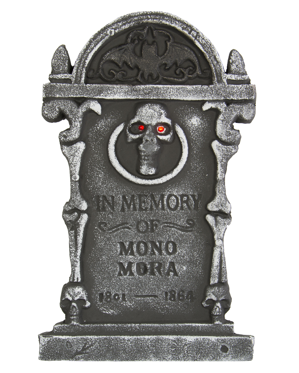 tombstone with skull and leds -light up tombstone-led gravestone