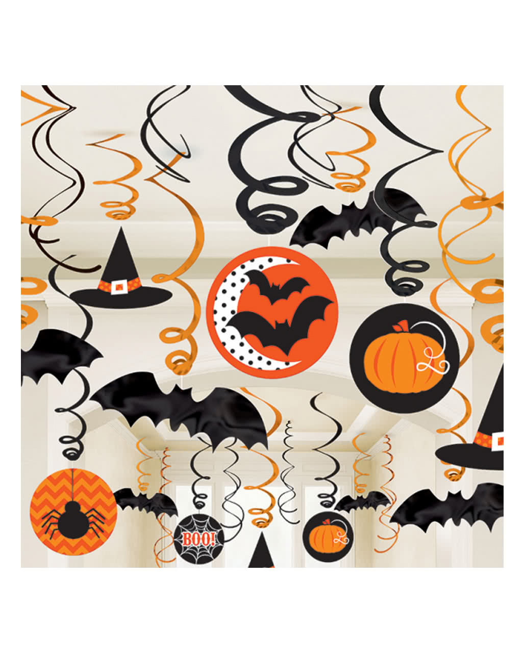 Halloween Decospiral 30 Pcs Partydeko Horror Shop Com