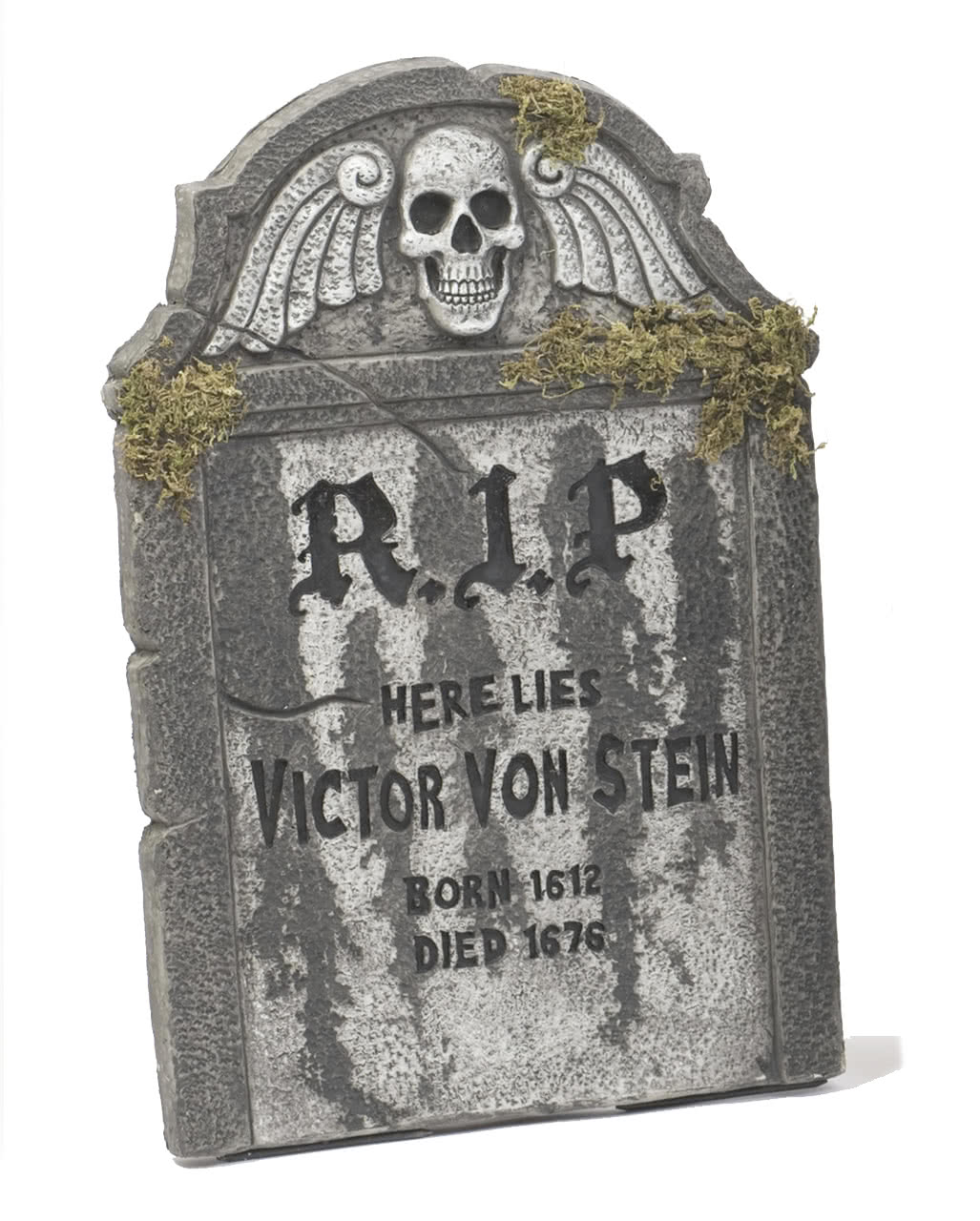 halloween tombstone rip with dead skull 55cm | | horror-shop