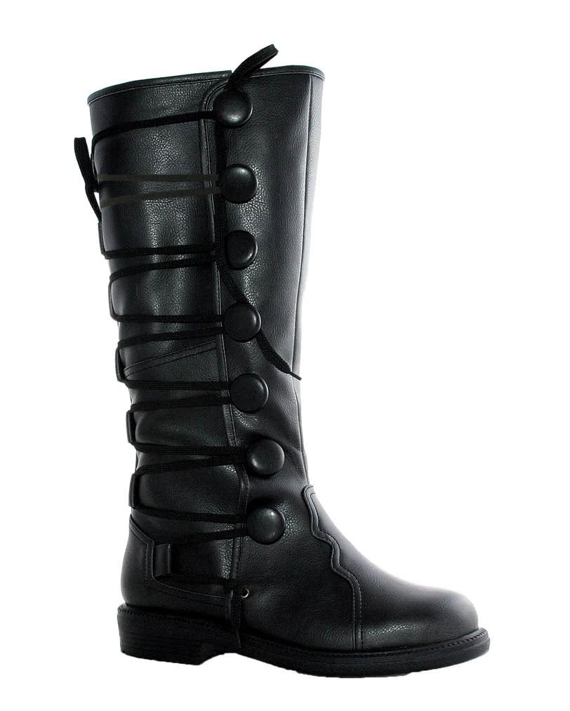 Dicke schwarze Booties