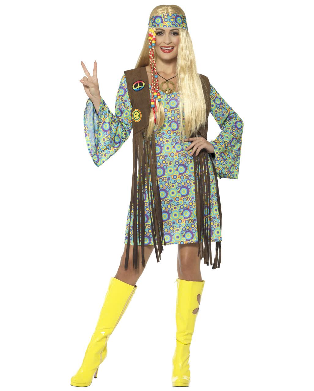 60s Hippie Chick Costume  sc 1 st  Horror-Shop & 60s Hippie Chick Costume | Carnival Costume | horror-shop.com