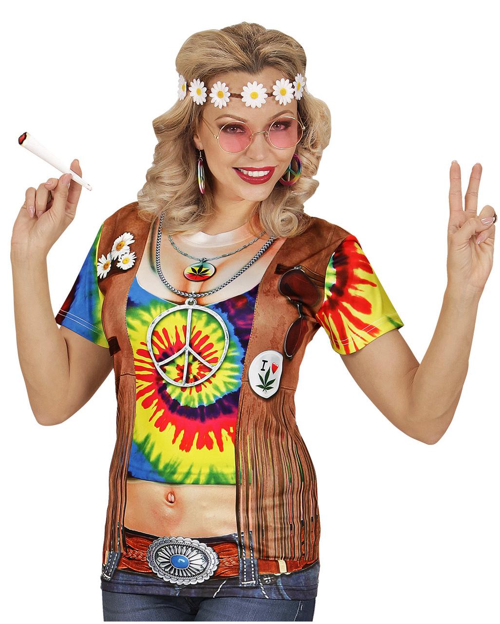 Hippie Frau T Shirt Fur Fasching Horror Shop Com