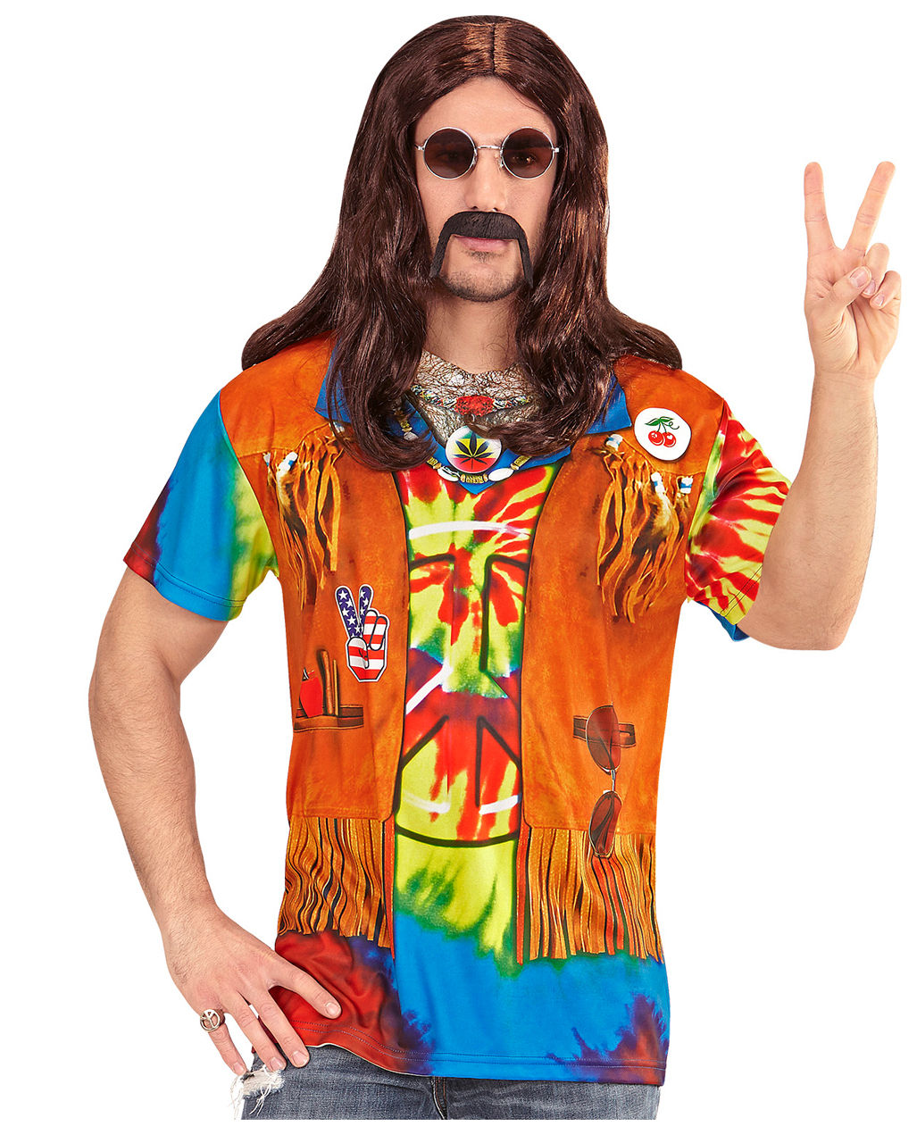 Hippie Mann T Shirt Fur Fasching Horror Shop Com