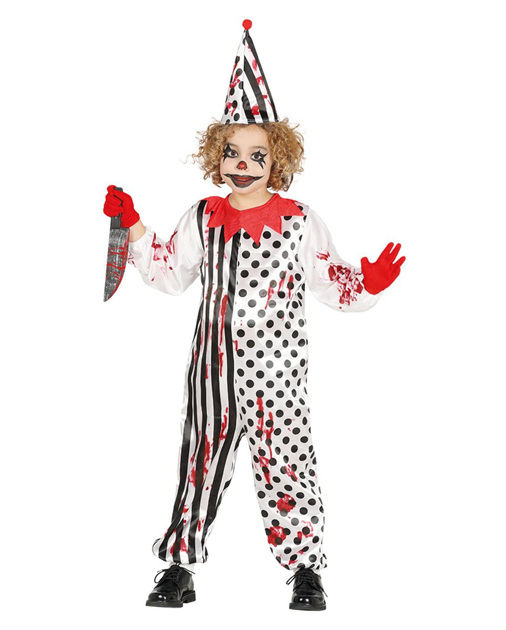 Horror Clown Kinderkostum Fur Halloween Horror Shop Com